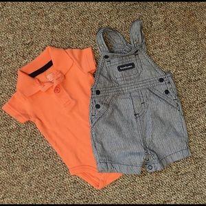Polo onesie & overall set